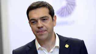 Le Premier ministre grec, Alexis Tsipras, à Bruxelles (Belgique), le 23 juin 2015. (THIERRY CHARLIER / AFP)