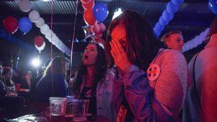 Lors d'une soirée de supporters de Clinton, le 8 novembre. (DANIEL CARDENAS / ANADOLU AGENCY)