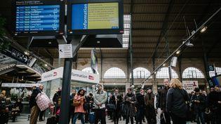 Grève à la gare du Nord, à Paris, le 25 avril 2016. (MAXPPP)