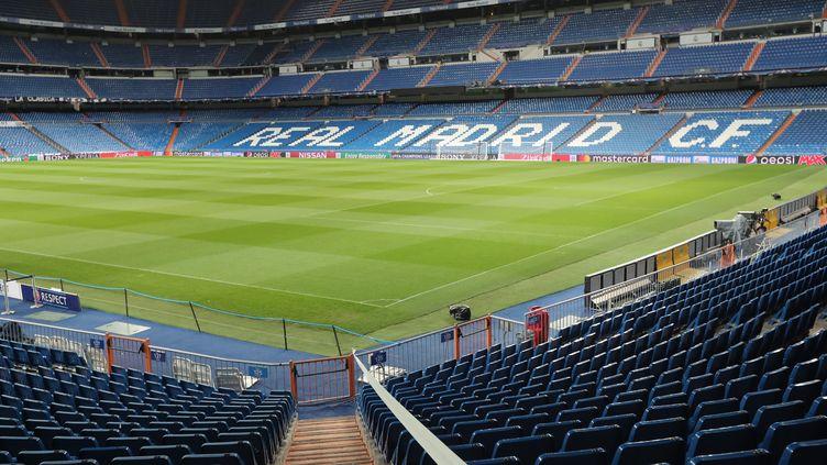 Le stade Santiago Bernabeu, à Madrid (Espagne), le 13 février 2018. (MAXPPP)