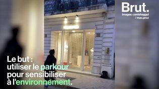 VIDEO. Marseille : des adeptes du parkour éteignent les enseignes laissées allumées la nuit (BRUT)