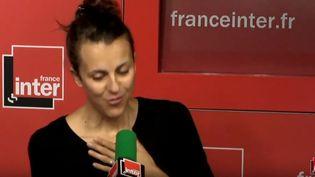 Nicole Ferroni le14 décembre 2016 lors de son billet matinal sur France Inter (FRANCE INTER / YOUTUBE)