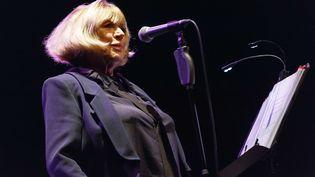 Marianne Faithfull sur scène le 29 octobre 2015 à Prague (OKLA MICHAL / AP / SIPA)