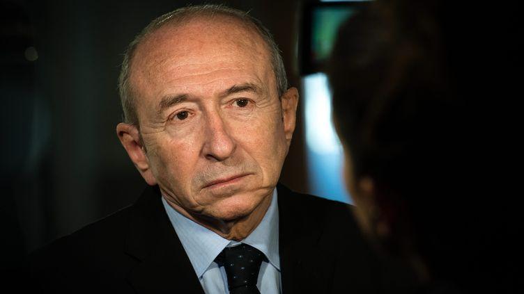 Le ministre de l'Intérieur, Gérard Collomb, le 23 février 2018, à Lille (Nord). (PASCAL BONNIERE / MAXPPP)