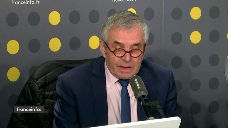 Francis Palombi, président de la Confédération des commerçants de France, était l'invité de franceinfo vendredi 30 novembre. (FRANCEINFO / RADIOFRANCE)