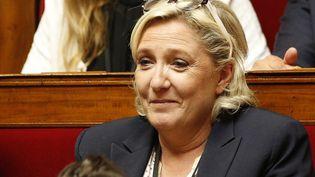 Marine Le Pen à l'Assemblée nationale le 28 juin 2017, à Paris. (GEOFFROY VAN DER HASSELT / AFP)