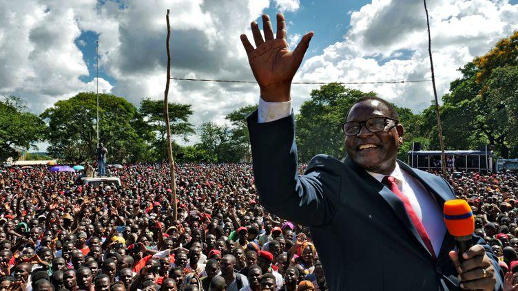 Lazarus Chakwera en campagne à Lilongwe, capitale du Malawi, le 4 février 2020. (ELDSON CHAGARA / X01723)