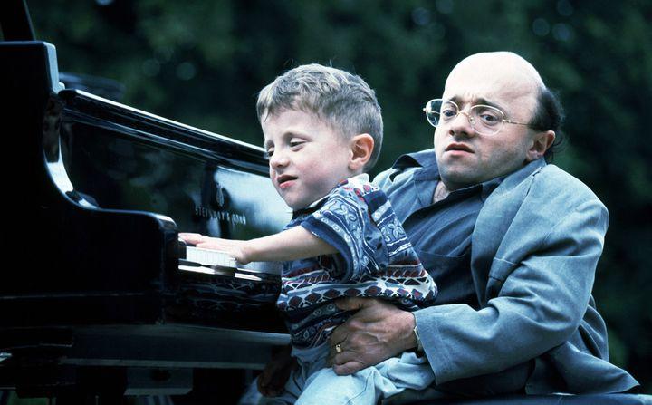 Michel Petrucciani et son fils Alexandre  (Jean Ber / Collection ChristopheL / AFP)