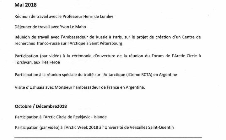 Extrait de l'agenda de Ségolène Royal de 2018. (DR)