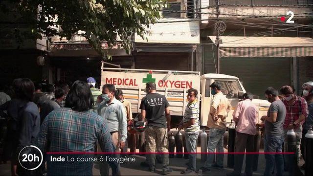Inde : l'oxygène, denrée rare et problématique