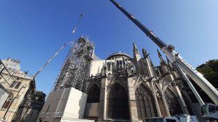La cathédraleNotre-Dame de Paris,trois mois après l'incendie. (SIMON CARDONA / RADIO FRANCE)