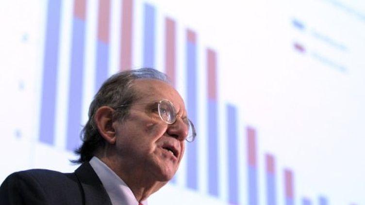 Présentation des prévisions de l'OCDE (28 novembre 2011) (ERIC PIERMONT / AFP)