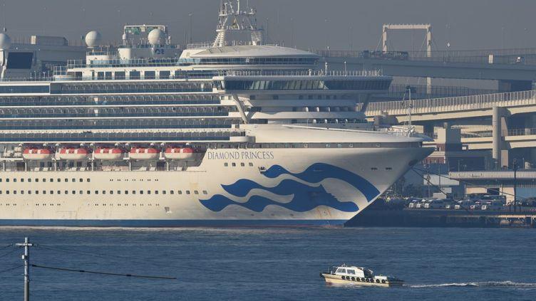 Le Diamond Princess au large de Yokohama, au Japon, le 13 févier 2020. (KAZUHIRO NOGI / AFP)