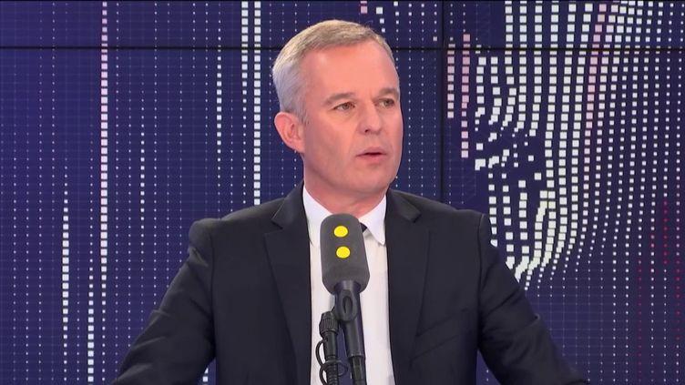 François de Rugy était l'invité de franceinfo vendredi 6 septembre. (FRANCEINFO / RADIOFRANCE)