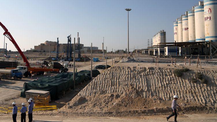 La centrale nucléaire deBouchehr (Iran), dont la construction se poursuit, le 10 novembre 2019. (FATEMEH BAHRAMI / ANADOLU AGENCY / AFP)