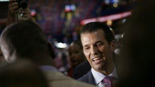 Donald Trump Junior, le fils du président des Etats-Unis, à Cleveland dans l'Ohio, le 19 juillet 2016. (BRENDAN SMIALOWSKI / AFP)