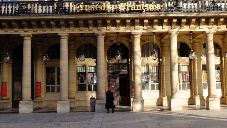 La façadeextérieurede la Comediefrancaise, place Colette, dans le 1er arrondissement de Paris. (BRUNO LEVESQUE / MAXPPP)