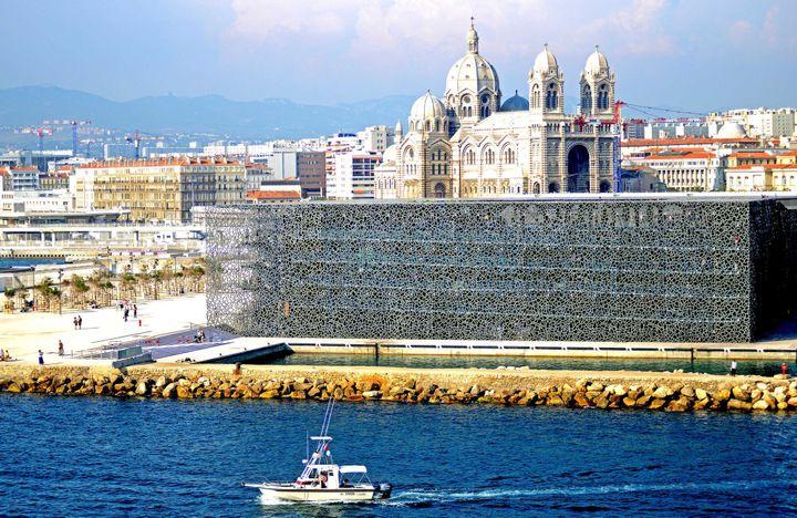 """Le """"Mucem"""" à Marseille.  (ROUSSEL/SIPA)"""