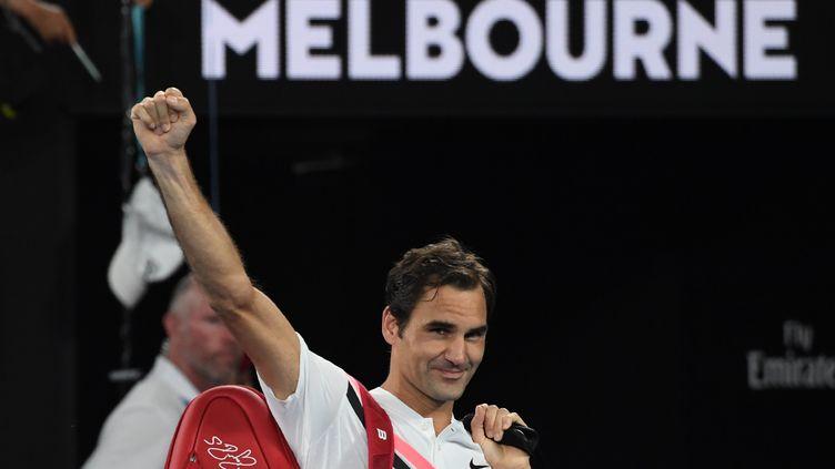 Une nouvelle victoire de Roger Federer  (WILLIAM WEST / AFP)