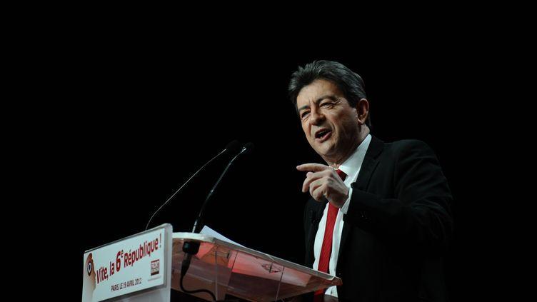 Jean-Luc Mélenchonau parc des Expositions, à Paris,le 19 avril 2012. (MARTIN BUREAU / AFP)