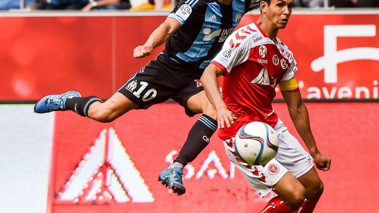 Florian Thauvin a peut-être porté le maillot de l'OM pour la dernière fois face à Reims. (PHILIPPE HUGUEN / AFP)