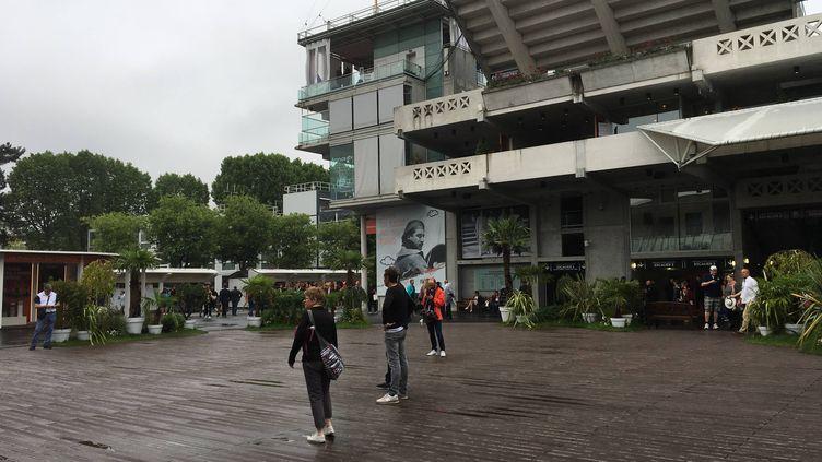 La place des Mousquetaires mardi à Roland-Garros.