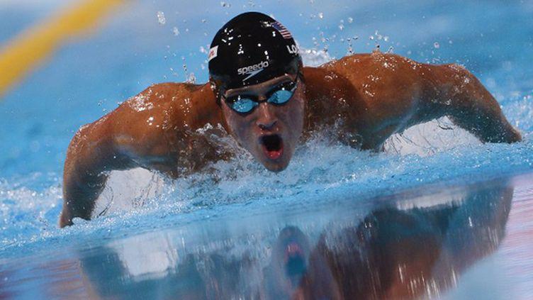 Ryan Lochte, la star de la natation US (FABRICE COFFRINI / AFP)