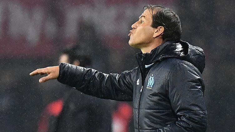 Rudi Garcia est satisfait du point pris par ses joueurs au Parc (FRANCK FIFE / AFP)