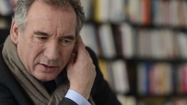 François Bayrou, maire de Pau et président du Modem, le 12 février 2015 à Paris. (JEROME MARS /JDD / SIPA)
