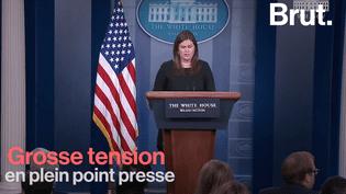 VIDEO. Quand la tension monte entre la porte-parole de la Maison Blanche et un journaliste de CNN (BRUT)