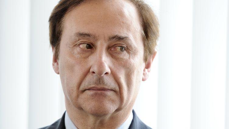 Didier Gailhaguet, le président de la Fédération des sports de glaces, au ministère des Sports à Paris, le 14 avril 2011 (photo d'illustration). (MIGUEL MEDINA / AFP)