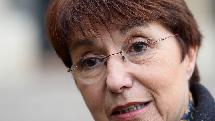 Catherine Arenou, la maire de Chanteloup-les-Vignes, le 29 janvier 2015. (ALAIN JOCARD / AFP)