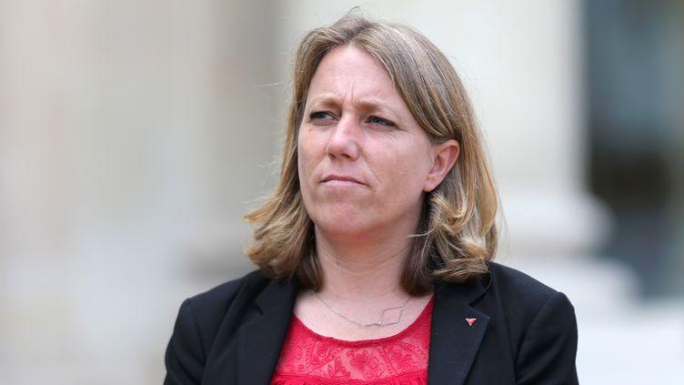 Danielle Simonnet,conseillère de Paris de La France insoumise,à l'Elysée, à Paris, le 25 juin 2016. (YANN BOHAC / CITIZENSIDE / AFP)