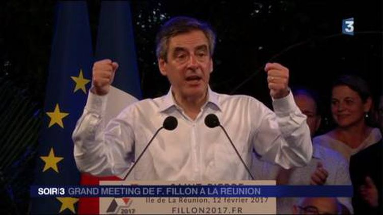 François Fillon était en meeting à La Réunion. (FRANCE 3)