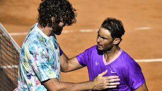 Rafael Nadal s'est imposer sans force face à Reilly Opelka en demi-finale de Rome. (FILIPPO MONTEFORTE / AFP)