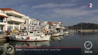 Des bateaux sur l'île d'Elafónisos. (France 2)