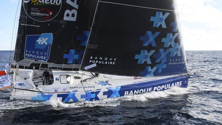 Avec le passage du Cap Horn dans la journée, Armel Le Cléac'h entame la dernière partie de son tour du monde en leader.  (DAMIEN MEYER / AFP)