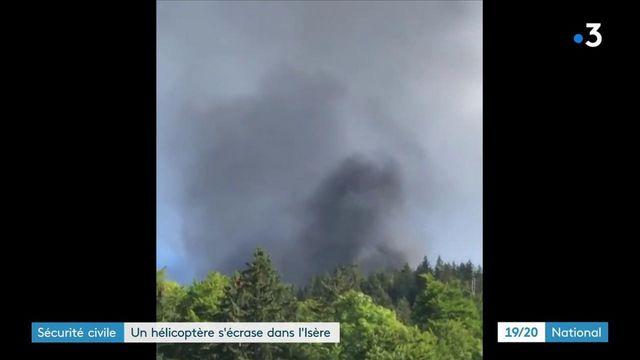 Isère : un hélicoptère de la Sécurité civile s'est écrasé dans le massif du Vercors
