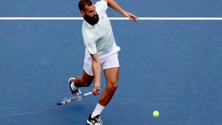 Benoît Paire lors du premier tour du tournoi de Cincinnati, le 15 août 2021. (MATTHEW STOCKMAN / GETTY IMAGES NORTH AMERICA / AFP)
