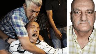 A gauche, des manifestants protestent contre la grâce accordée au pédophile espagnol, Daniel Galvan, à Rabat, le 3 août 2013. A droite, une photo non datée de Daniel Galvan. (REUTERS - MAXPPP)