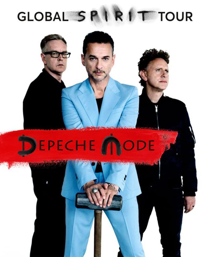 Depeche Mode : l'affiche du Global Spirit Tour.  (DR)