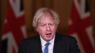 Le Premier ministre britannique Boris Johnson à Londres, le 15 février 2021. (STEFAN ROUSSEAU / AFP)