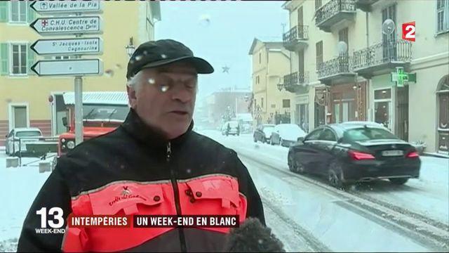 Intempéries : premier week-end sous la neige dans le sud