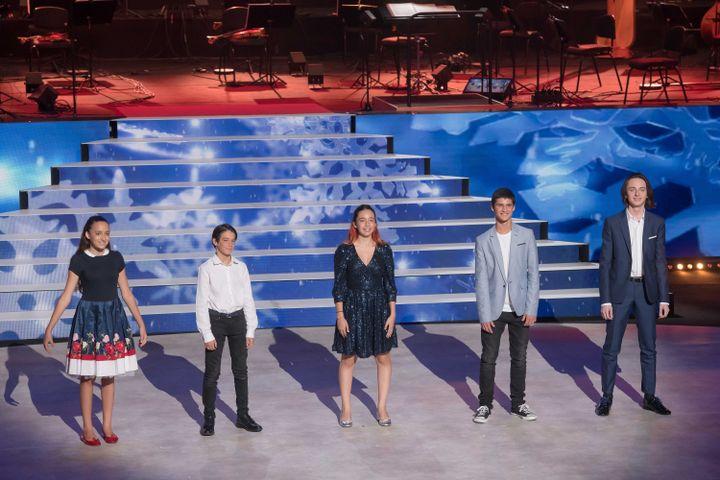 Les jeunes musiciens Stella, Raphaël, Lou, Liam et Stan. (FRANÇOIS LEFEBVRE | Prodiges)