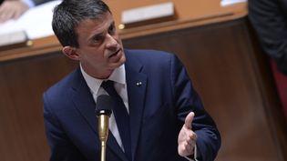 Manuel Valls le 24 juin 2015 à l'Assemblée nationale (MIGUEL MEDINA / AFP)