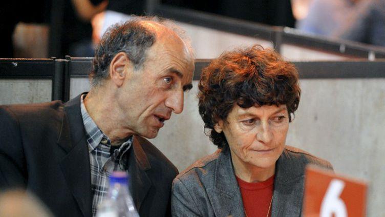 Patrice Ciprelli et Jeannie Longo (JEAN-PIERRE CLATOT / AFP)