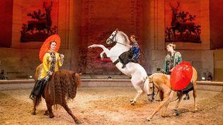 """""""Fantaisies équestres, sur les pas de Marco Polo"""" est le nouveau spectacle au Musée du cheval de Chantilly.  ( Jessica Rodrigues / RB presse)"""