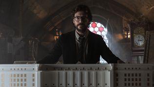 Álvaro Morte reprend son rôle du Professeur dans cette troisième saison de La Casa de Papel.   (TAMARA ARRANZ)