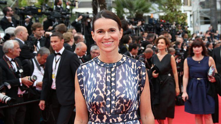 La ministre de la Culture, Aurélie Filippetti, au 67e festival de Cannes, le 14 mai 2014. (LOIC VENANCE / AFP)