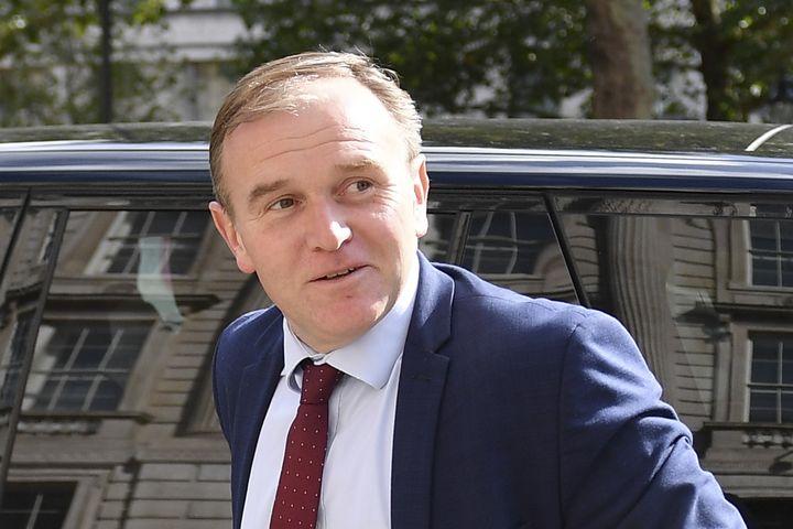 George Eustice, ancien ministre de l'Agriculture, à Londres le 20 août 2019. (DANIEL LEAL-OLIVAS / AFP)